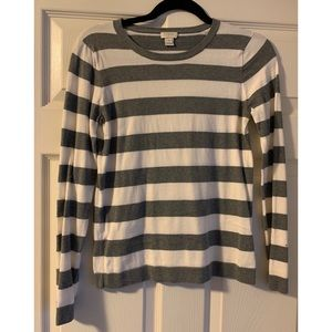 J. Crew Factory striped sweater